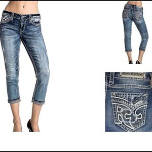 Rock Revival Jeans - NWT Rock Revival Ebba Crop Capri's ;27) size 29/30